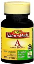 Nature Made Vitamin A 8000 I.U. Softgels 100 Soft Gels - $8.60