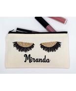 Cosmetic Bag, Personalized Make up Bag, Cosmetic Canvas Bag, Multi purpose Make  - £6.11 GBP