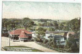 Riverton Park Boat House Presumpscot River Portland UDB Vintage Postcard - $8.95