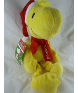 """Holiday Christmas 14"""" Peanuts Woodstock Plush Pet Toy with Squeaker - $11.87"""