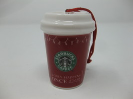 Starbucks 2005 Christmas Holiday Red Cup Ceramic Ornament Stocking - $19.79