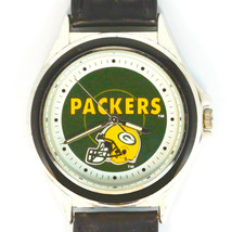 Green Bay Packers NFL Fossil Relic Rare Unworn Watch Silver Tone Blue Insert $95 - $93.90