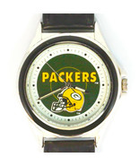 Green Bay Packers NFL Fossil Relic Rare Unworn Watch Silver Tone Blue In... - $93.90