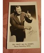 VINTAGE BILL HALEY AND HIS COMETS DECCA RECORDING ARTIST POSTCARD FAN CA... - $18.99