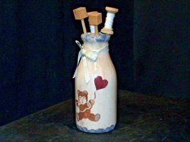 Hand Painted Vase with Kitchen Utilizes Decor AB 54a Vintage image 4