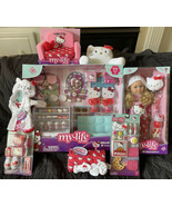 """My Life As ULTIMATE Hello Kitty LOT Bakery Playset 18"""" Doll Chair Access... - $290.00"""