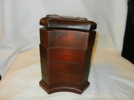 Red Walnut Wooden Heart Jewelry Box with 4 Compartments, from Bombay Com... - €65,19 EUR