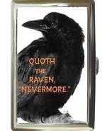 QUOTH THE RAVEN NEVERMORE POE CIGARETTE CARD MONEY CASE - $16.99