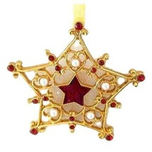New in Box Welforth Golden Star Ornament with Crystals - $6.33