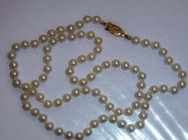 Vintage White Faux Pearl Necklace - $10.00