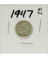 1947 United States Roosevelt Dime 90% Silver Rating :(F) Fine - £1.03 GBP