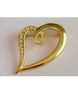 Heart Pin With Clear Stones - $10.00