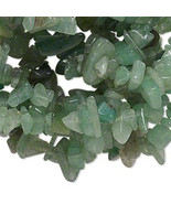 Green Aventurine Chip Beads 32-34 Inch Endless Strand - $2.41