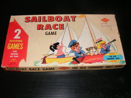 Vintage Sailboat Race Game & The Old Swimmin' Hole Game - $35.00