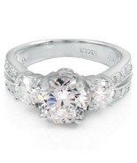 Sterling Silver ring size 10 CZ Round cut Engagement Wedding Bridal New ... - $23.11