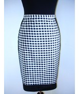 New $425 MOSCHINO Cheap & Chic blk/wht gingham slim pencil skirt Italy 4... - $202.50