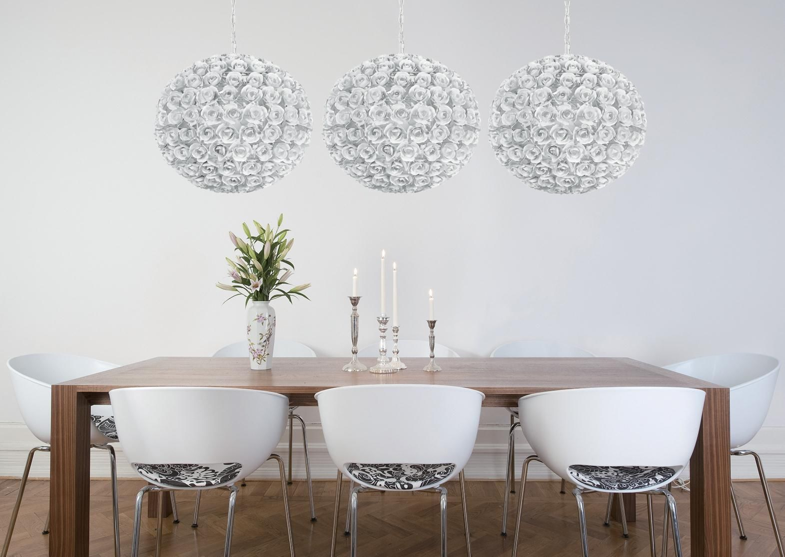 Primary image for White Globe Orb Chandelier Shiny Coastal Urban Modern Contemporary Euro Style