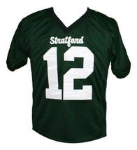 Andrew Luck #12 Stratford High School New Men Football Jersey Green Any Size image 1