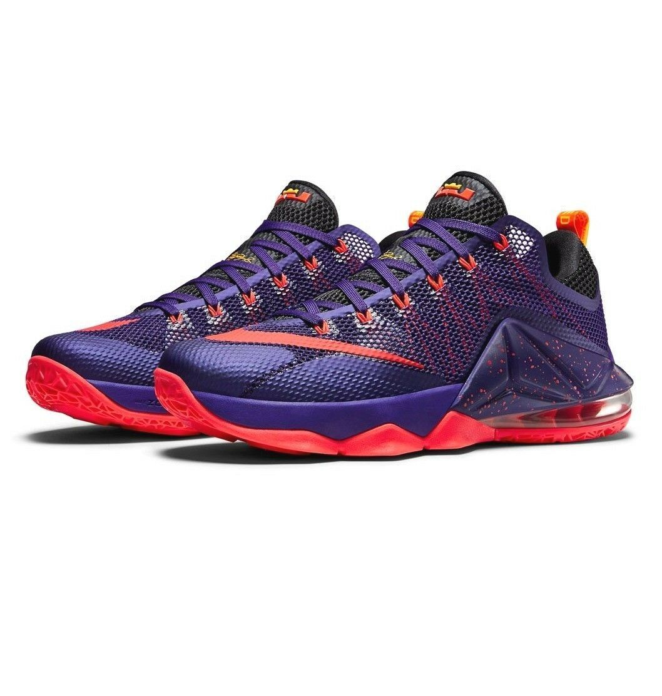 Nike Lebron XII Low Raptors Court Purple Bright Crimson 724557-565 Mens 9