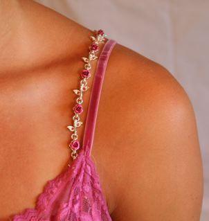 Bra Straps -  Pink flowers for everyday wear   NEW in box Bonanza