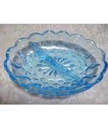 Aquamarine Blue/ Green Divided Relish Dish - $12.00