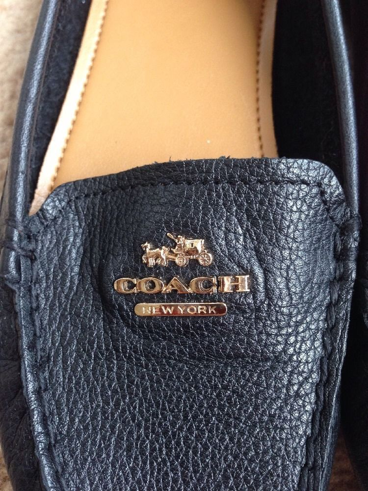 53126592a40 New Coach Shoe Loafer Flat Soft Genuine Leather Loafer Flats Women US Size  5MB