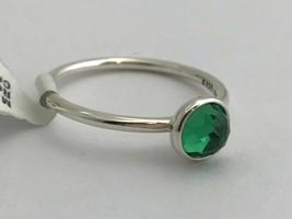 Authentic Pandora May Droplet Royal Green Crystal Ring 191012NRG-48 4.5 New - $38.94