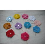 This Set of 24 Assorted Random Felt Flower with... - $14.99