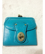 Coach Teal Legacy French Purse - $70.00