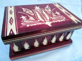 Secret Key HANDCRAFTED WOODEN Magic Jewelry Puzzle Money stash box  - $68.26