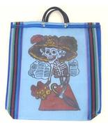 Day of the Dead Katrina Mexican Mesh Market Bag Blue - $4.94