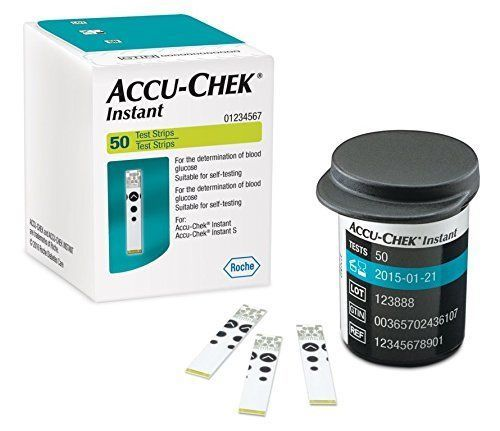 Accu-Chek Instant Glucose Test Strips, 50 Count -Best Price  ORIGINAL FS