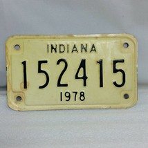 Vintage Indiana 1978 Motorcycle Cycle License Plate - Your Choice - $19.75