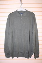 NEW CROFT & BARROW MENS SIZE 3XLT DARK GREEN POLO SWEATER W LONG SLEEVES... - $19.99