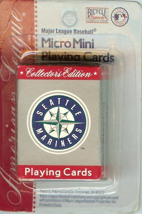 Primary image for seattle mariners micro mini playing cards old logo 1980s