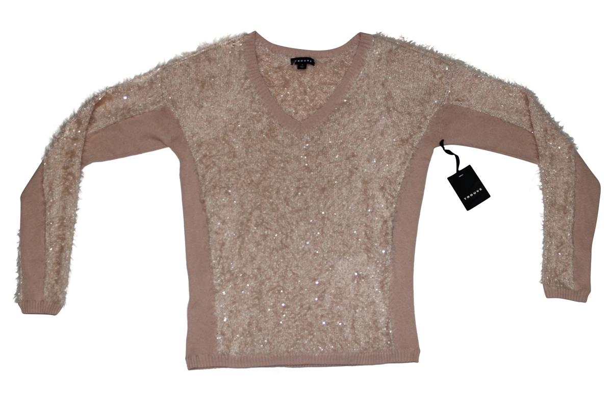Trouvé Textured V-Neck Sweater (medium) [Apparel]