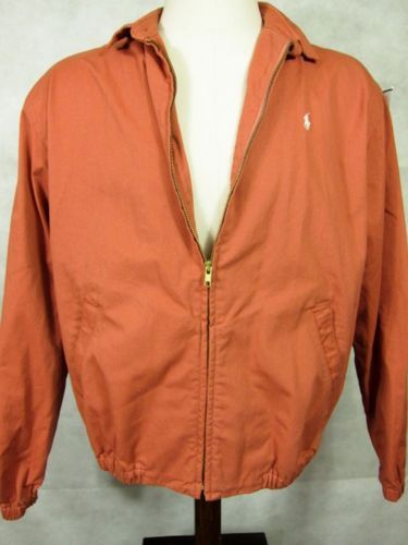 Primary image for NEW  Ralph Lauren Polo Adobe Orange Cotton Windbreaker Jacket Coat Large