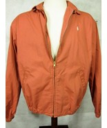 NEW  Ralph Lauren Polo Adobe Orange Cotton Windbreaker Jacket Coat Large - $52.66