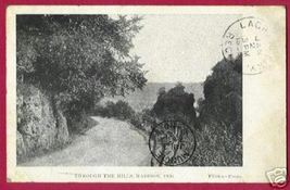 MADISON INDIANA Hills Road Flora Photo UDB 1908 - $5.00
