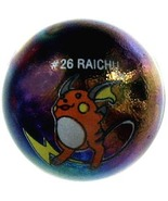 POKEMON MARBLE RAICHU #26 METALLIC COLORED GLAS... - $14.98