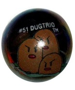 POKEMON MARBLE DUGTRIO #51 METALLIC COLORED GLA... - $9.98