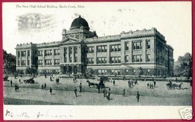 Primary image for BATTLE CREEK MICHIGAN New High School 1908 MI