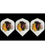 Chicago Blackhawks Nhl Hockey Standard Wide Size Dart Flights 1 Set of 3... - $3.95