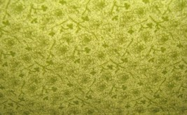 Light Green Tiny Flowers on Green Print Cotton Fabric 1 yard - $7.95