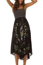 Women's Spaghetti Strap Dress with Smocked Bodice and Sequin Embellishment (B... - $34.64