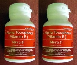 60 Capsules Myra E 400 IU Vitamin E d-Alpha Tocopherol [Health and Beauty] - $85.89
