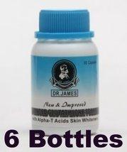 Dr. James Advanced Glutathione Bleaching Skin Whitening Formula 1000mg 6 Bottles - $197.58