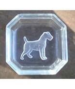Intaglio Salt Cellar.  Airedale Terrier Dog.  Vintage.  G-281 - $18.00