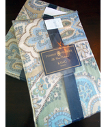 **NEW LOW PRICE* Tommy Hilfiger Jeweled Tapestry King Pillow Shams - NIP - $22.00