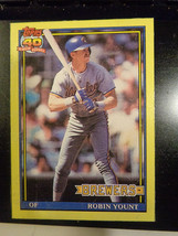 1991 Topps Box Bottom #P Robin Yount Milwaukie Brewers ~ EX/NM - $1.33